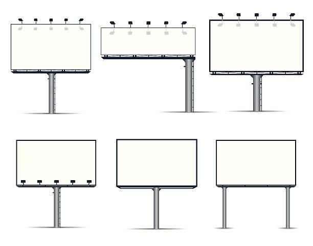 Panneaux d'affichage extérieur - Illustration vectorielle