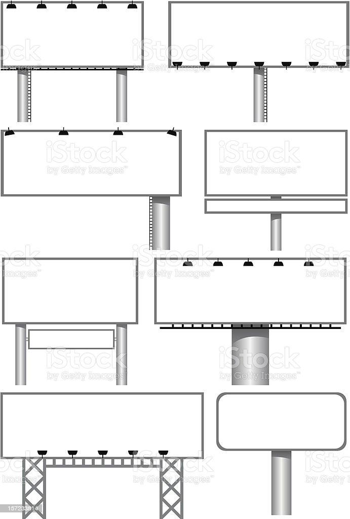outdoor billboards royalty-free stock vector art