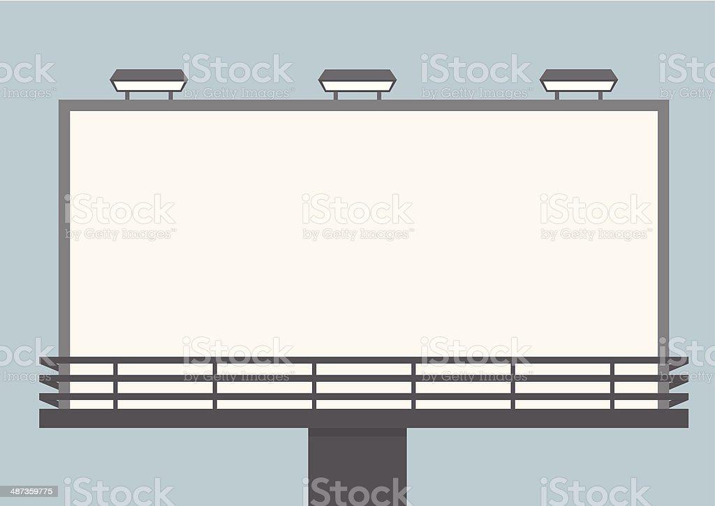 Outdoor blank billboard vector art illustration