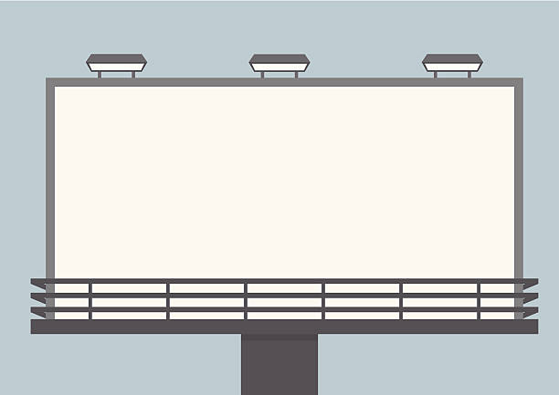Panneau d'affichage vide extérieure - Illustration vectorielle