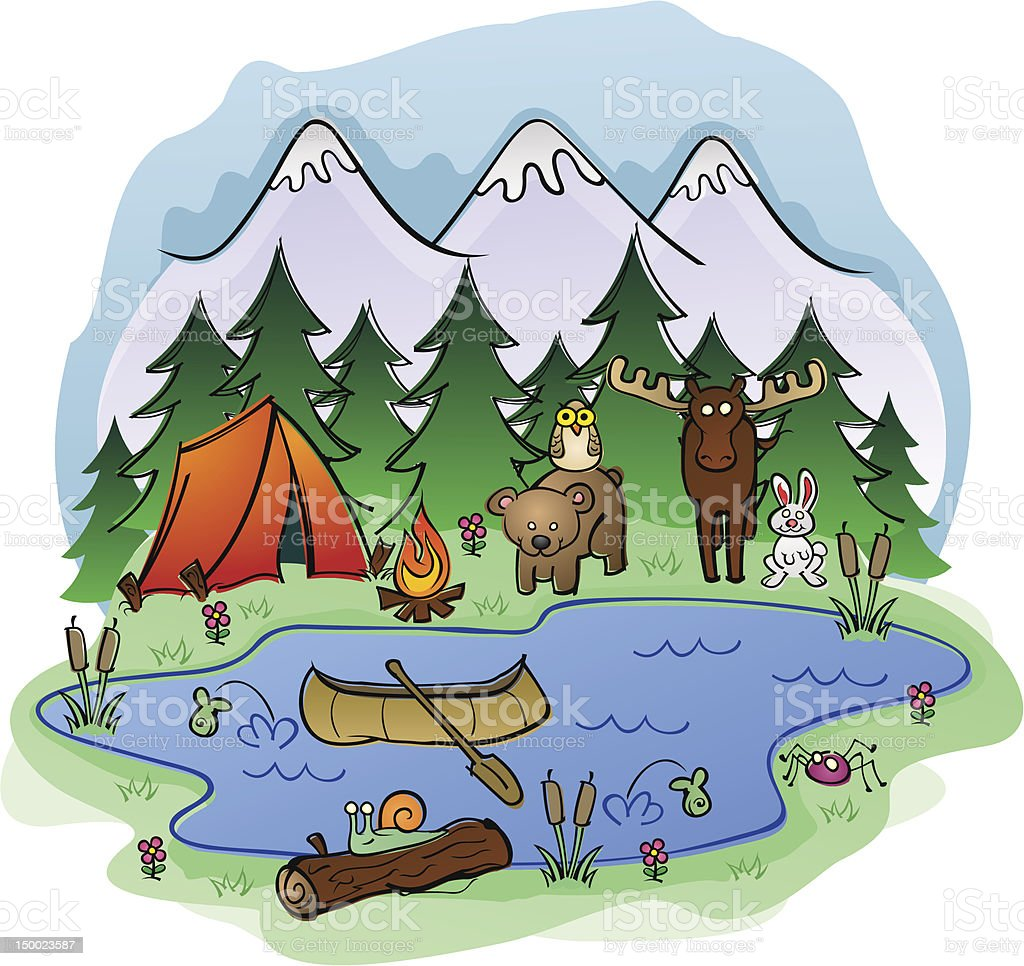 Outdoor Camp Site royalty-free outdoor camp site stock vector art & more images of adventure