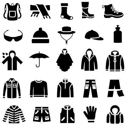 Outdoor Clothing Icons