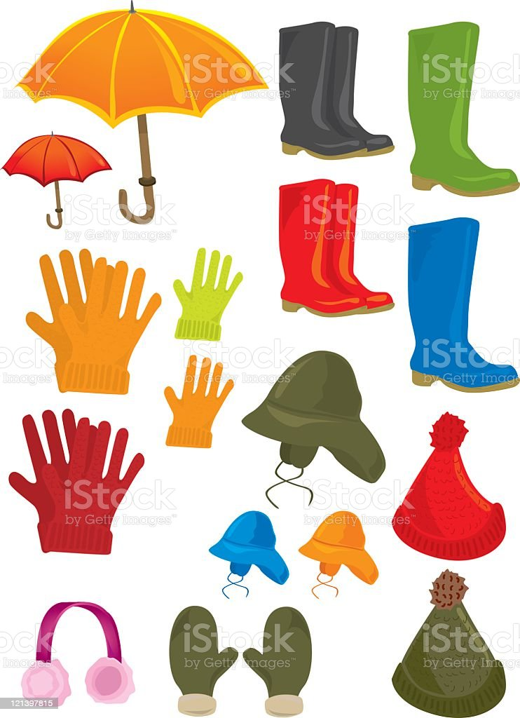 Outdoor clothing royalty-free stock vector art