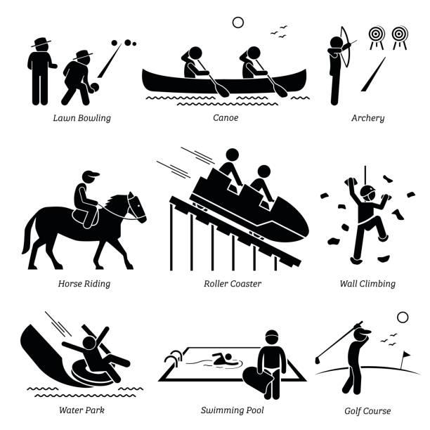 Jeux de Club en plein air et activités récréatives. - Illustration vectorielle