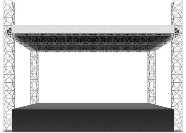open-air-bühne truss system - dachzelt stock-grafiken, -clipart, -cartoons und -symbole