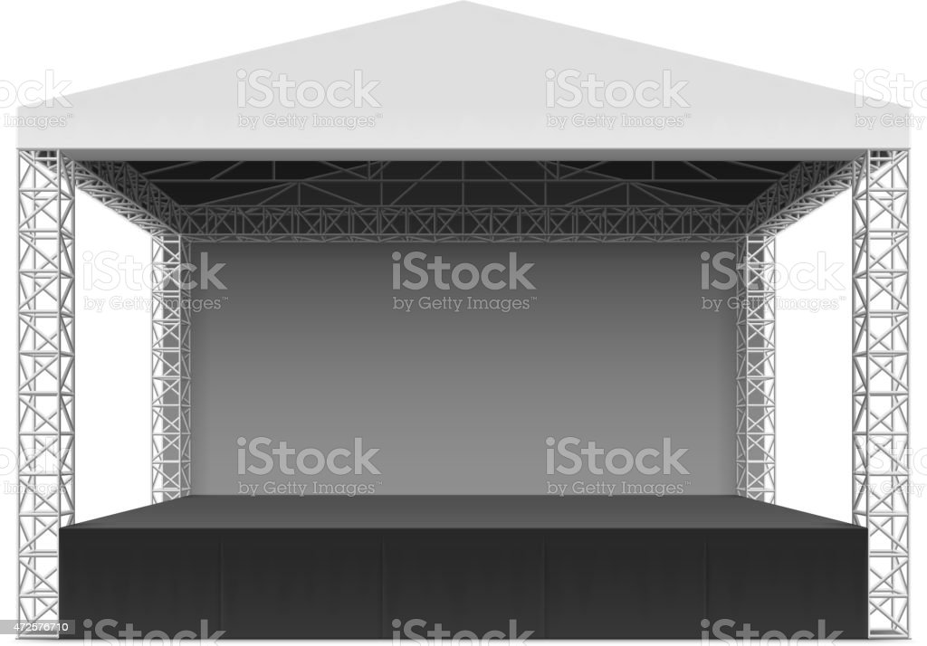 Outdoor concert stage, truss system