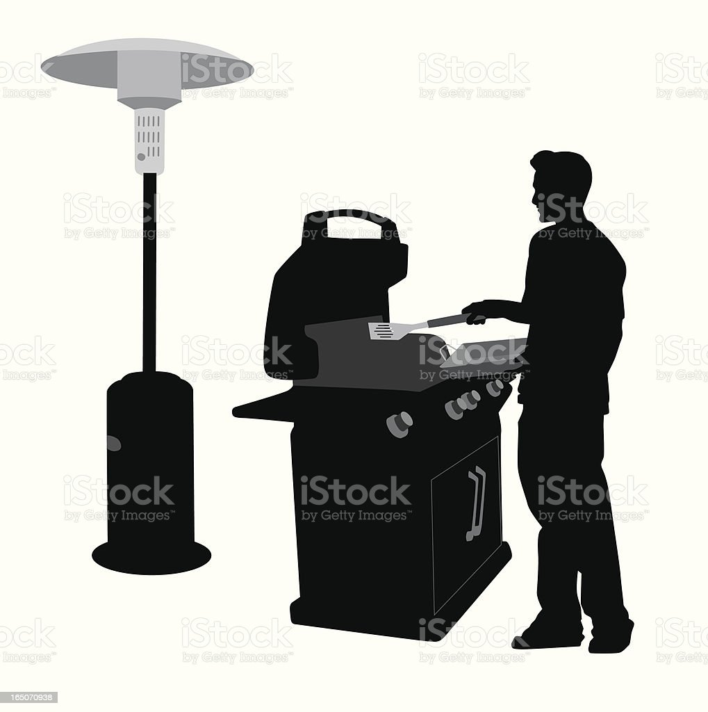 Outdoor Cooking Vector Silhouette royalty-free outdoor cooking vector silhouette stock vector art & more images of activity