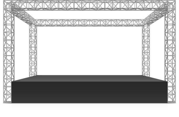 ilustrações de stock, clip art, desenhos animados e ícones de festival ao ar livre fase, truss sistema - palco