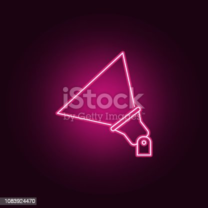 outdoor floodlight icon. Elements of Spotlight in neon style icons. Simple icon for websites, web design, mobile app, info graphics on dark gradient background