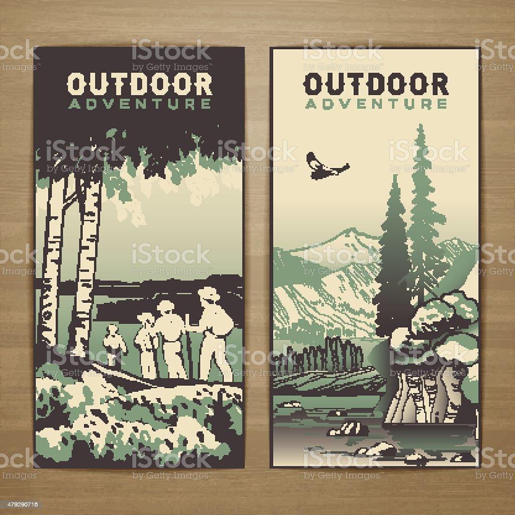 Outdoor flyer vector art illustration
