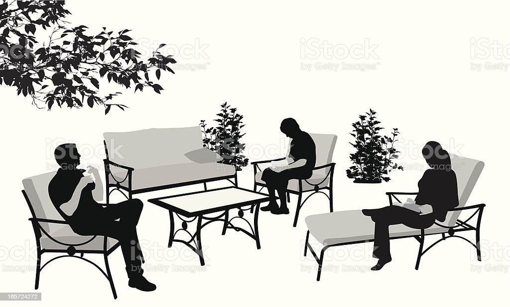 Outdoor Furniture Vector Silhouette royalty-free stock vector art