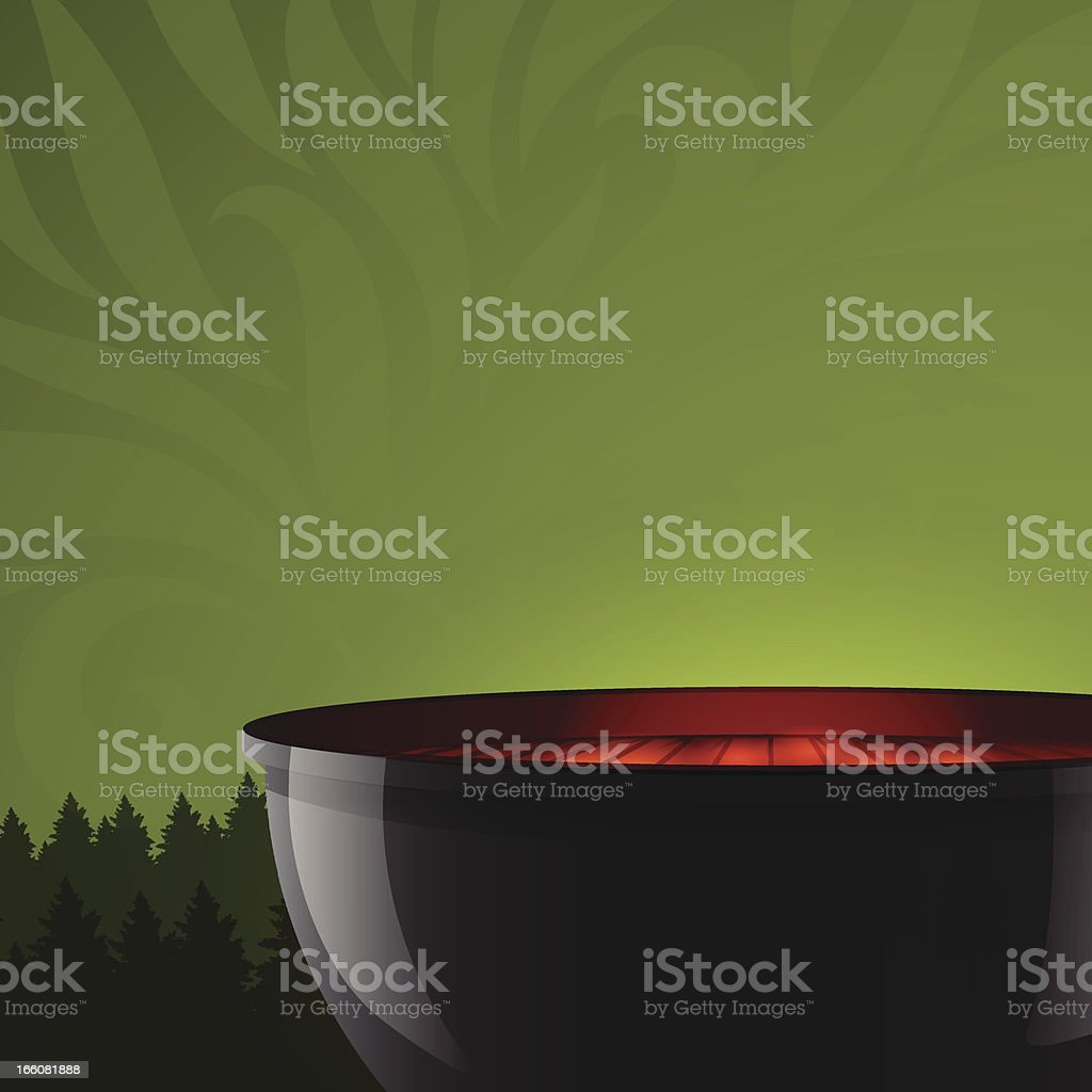 Outdoor grilling royalty-free stock vector art