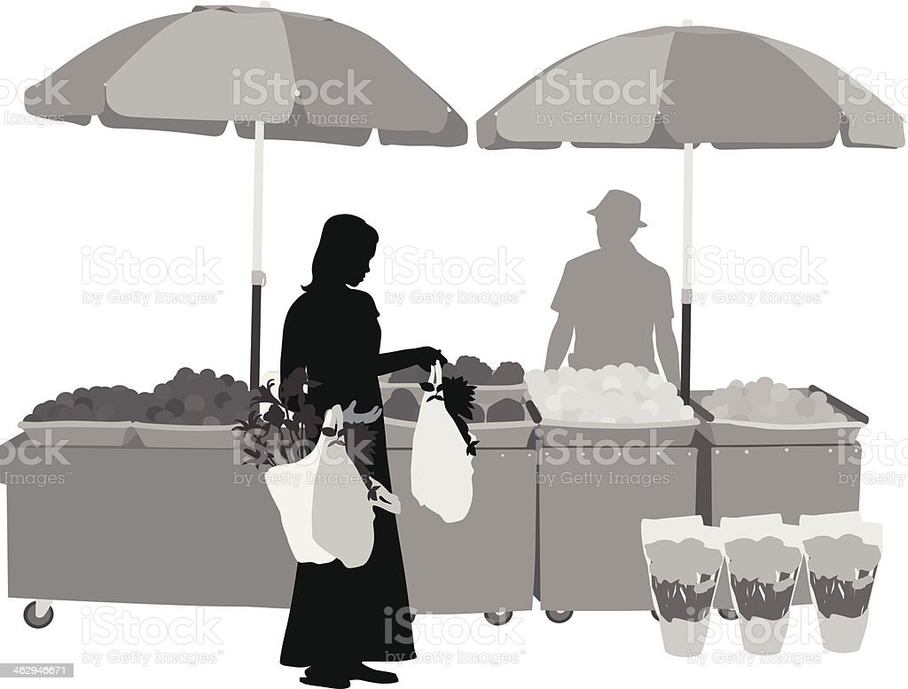 Outdoor Market royalty-free stock vector art