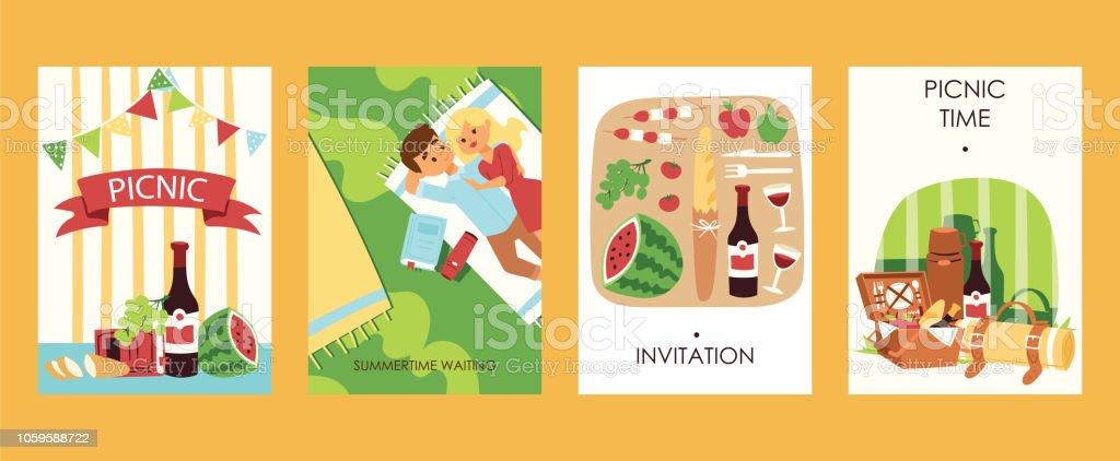 Ilustración De Tarjetas De Invitación De Tiempo Al Aire
