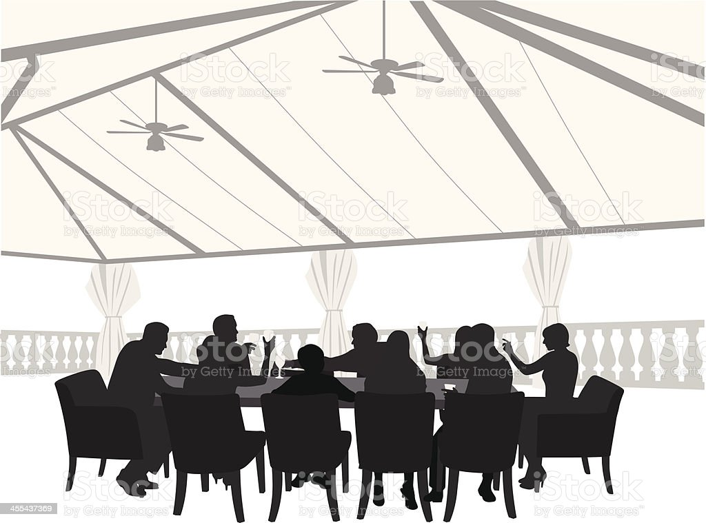 Outdoor Restaurant Vector Silhouette royalty-free outdoor restaurant vector silhouette stock vector art & more images of adult