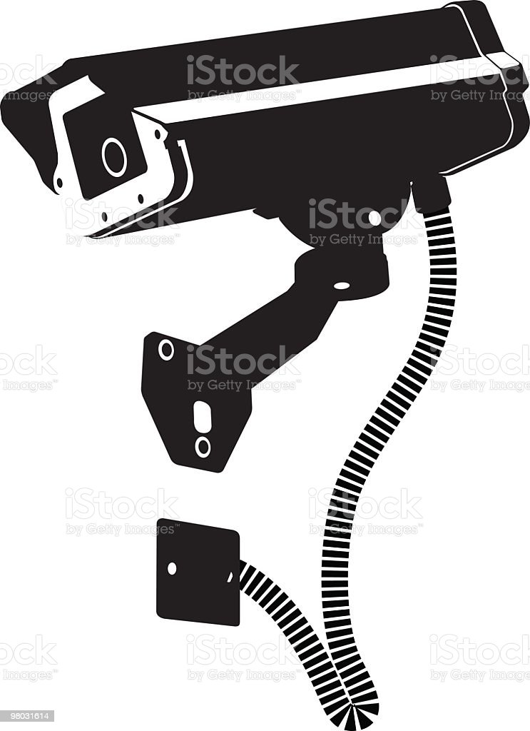 outdoor security camera, cctv royalty-free outdoor security camera cctv stock vector art & more images of black color