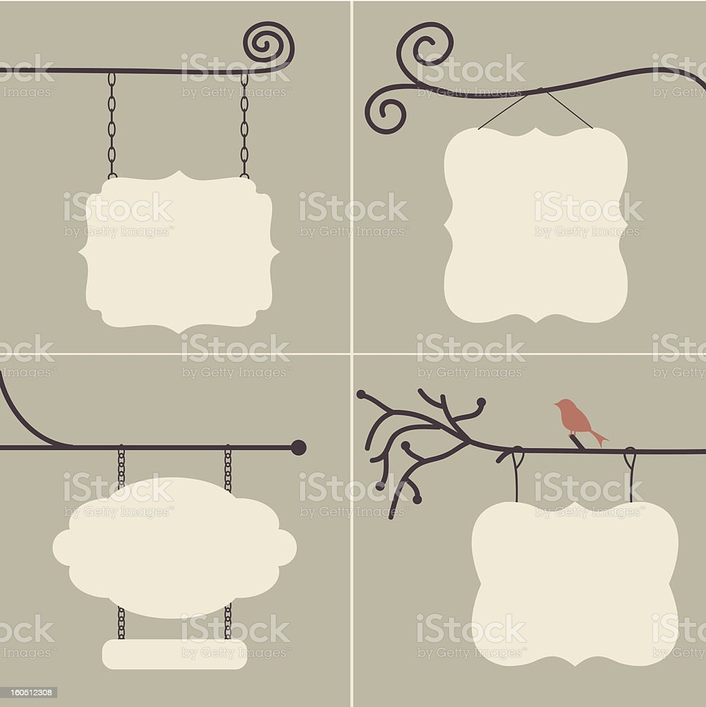 Outdoor Sign Collection vector art illustration