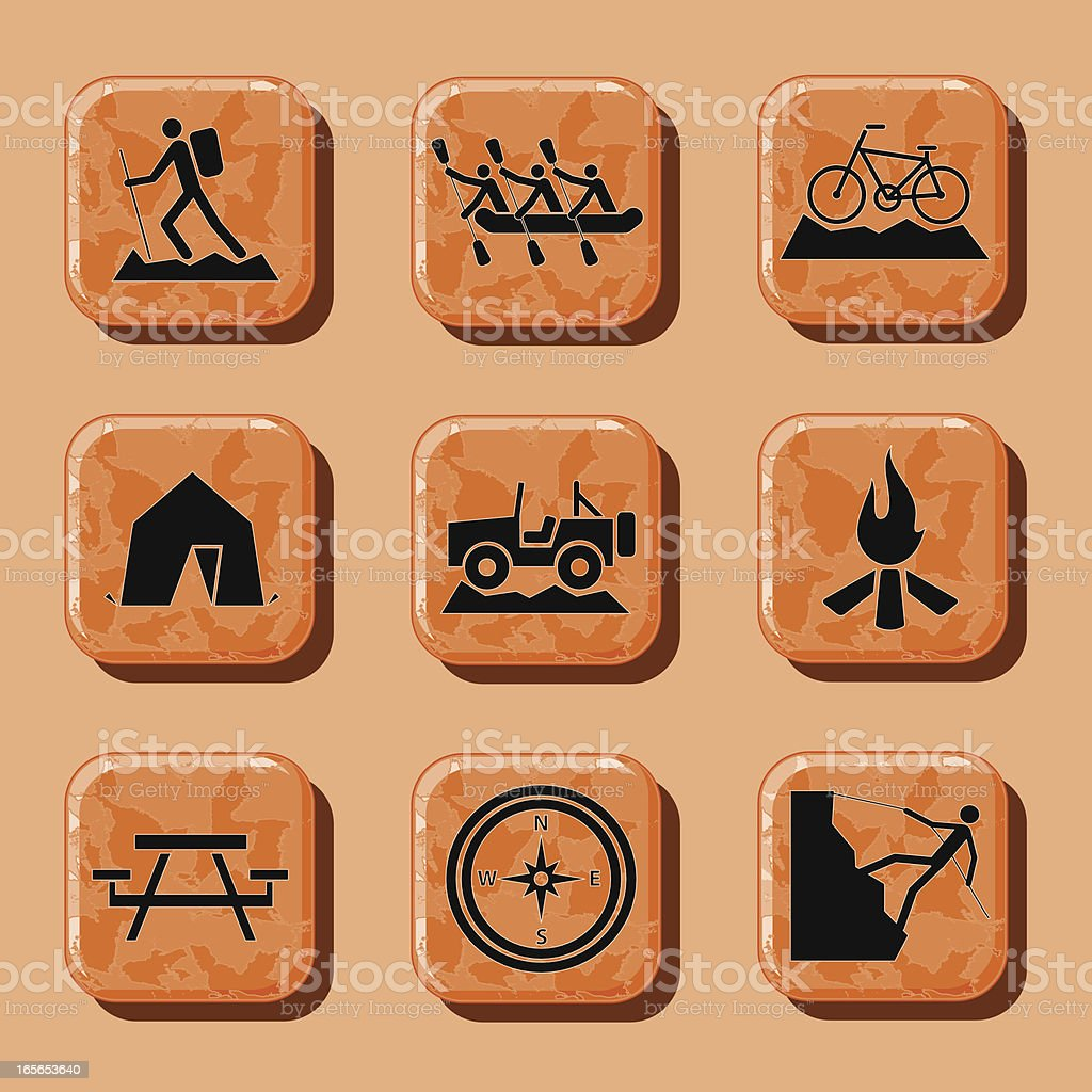Outdoor Sports and Activities Icons royalty-free stock vector art