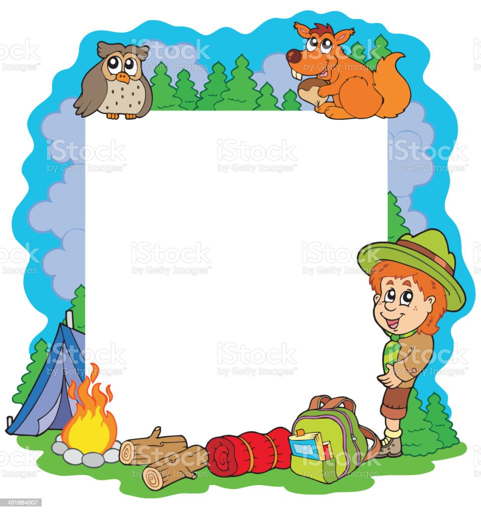 Outdoor summer frame royalty-free stock vector art