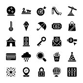 Outdoor Swings Glyph Icons Pack