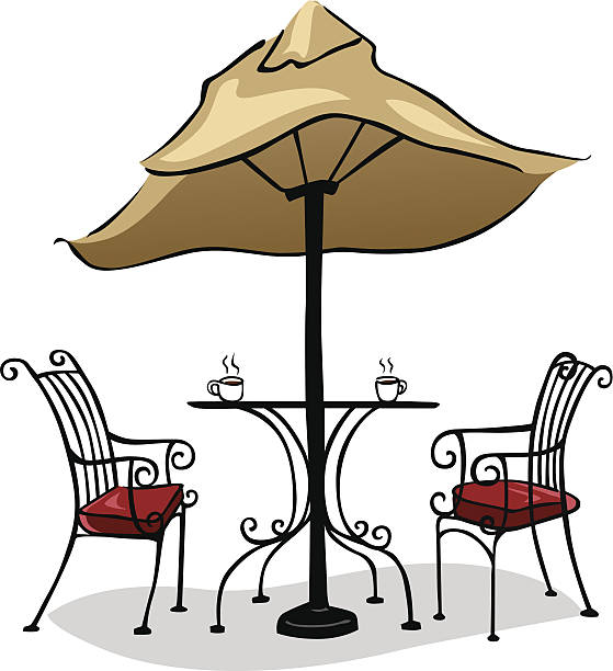 Best Dining Table Illustrations Royalty Free Vector: Best Outdoor Dining Illustrations, Royalty-Free Vector
