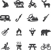 Outdoors and Adventure Silhouette icons| EPS10
