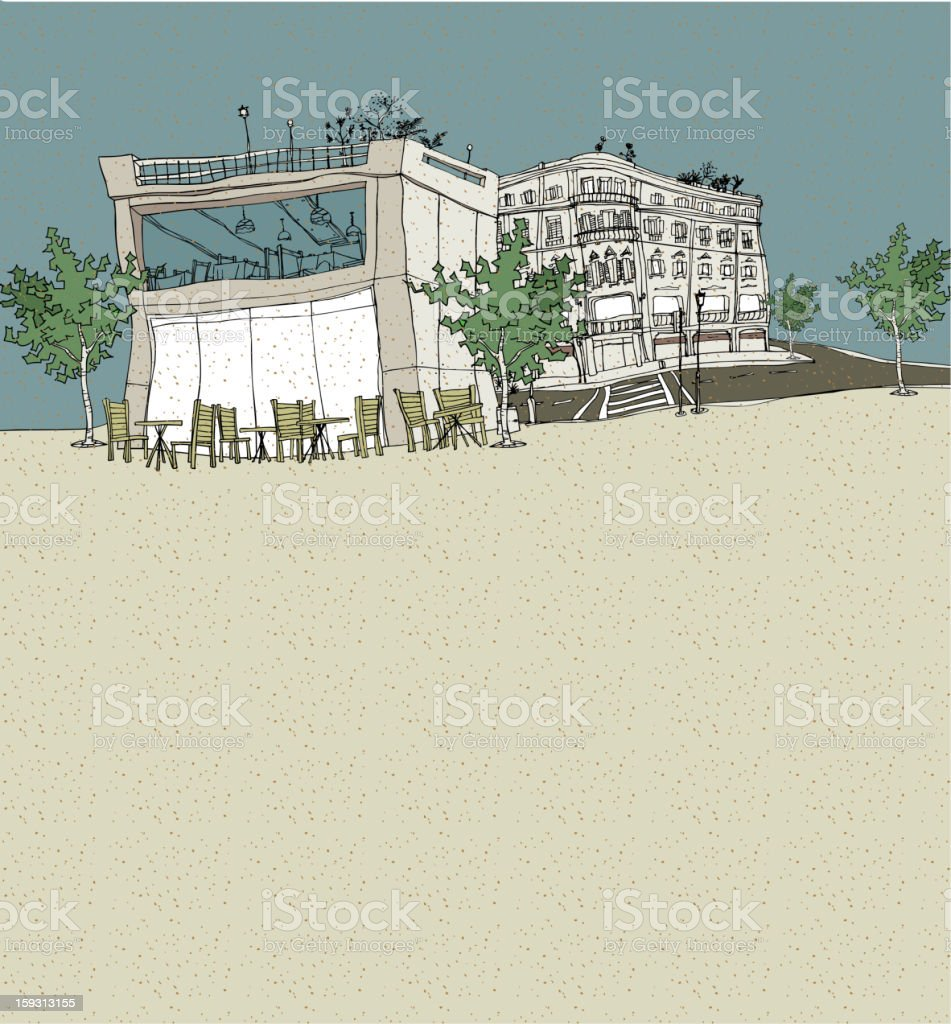 outdoors cafe royalty-free outdoors cafe stock vector art & more images of architecture