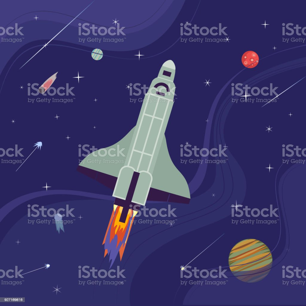 Outer space icon vector art illustration