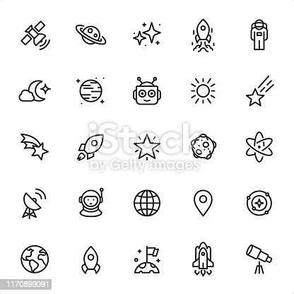 Outer Space - Outline Icon Set