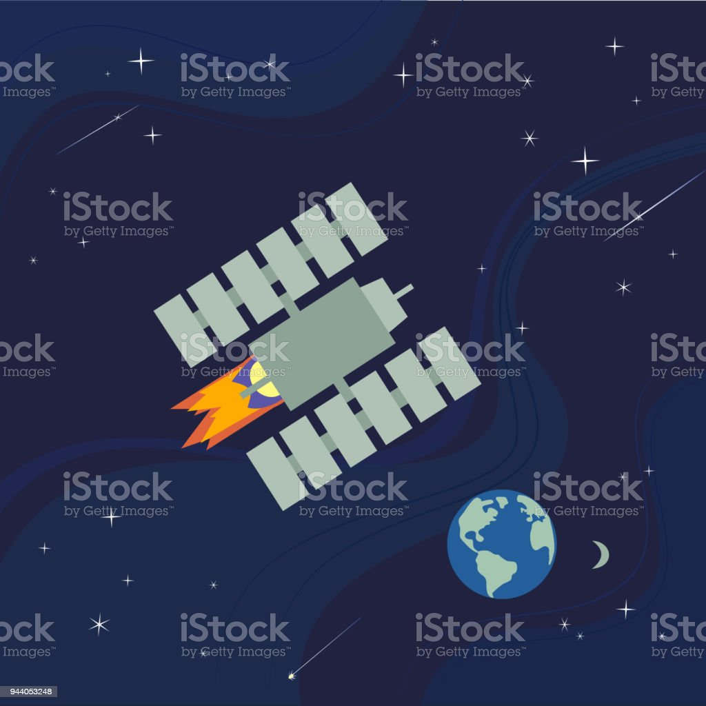 Outer space poster vector art illustration