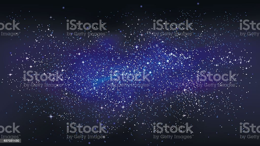 Outer space starry design vector art illustration