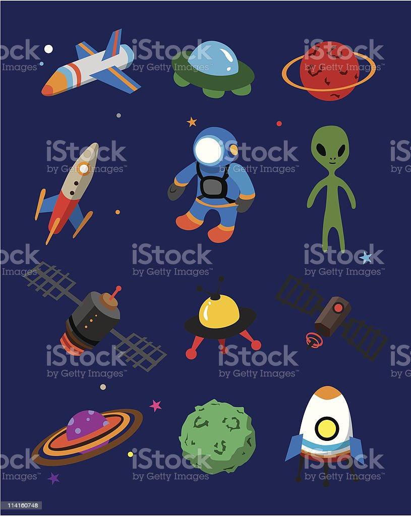 Outer space royalty-free outer space stock vector art & more images of airplane