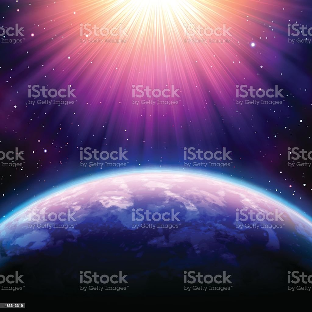 Outer space vector art illustration