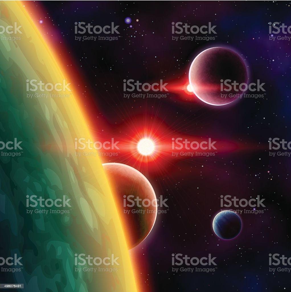Weltraum – Vektorgrafik