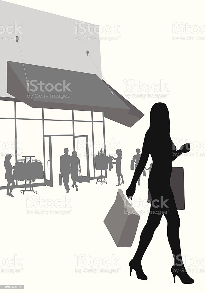 Outing Vector Silhouette royalty-free stock vector art