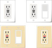 GFCI Outlets with Wall Switch