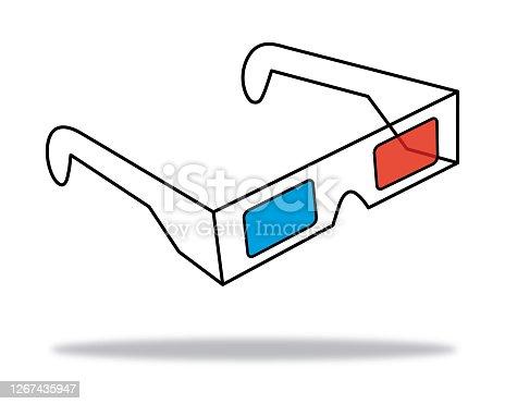 istock Outline 3D Glasses 1267435947