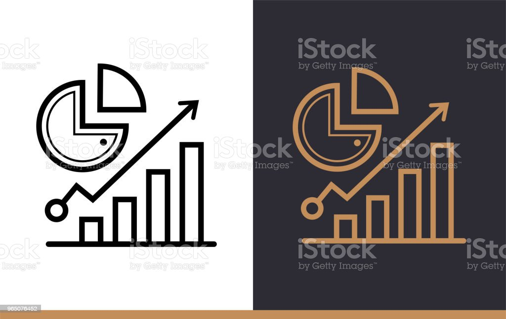 Outline analytics icon for startup business. Line icons suitable for info graphics, print media and interfaces royalty-free outline analytics icon for startup business line icons suitable for info graphics print media and interfaces stock vector art & more images of business
