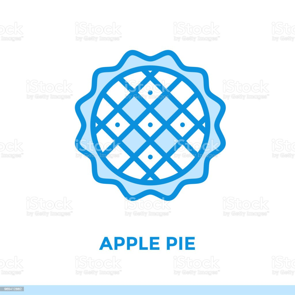 Outline APPLE PIE icon. Vector pictogram suitable for print, website and presentation royalty-free outline apple pie icon vector pictogram suitable for print website and presentation stock vector art & more images of bakery