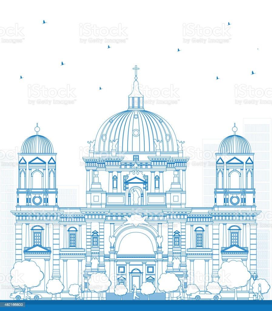 Kontur Berliner Dom in Berlin – Vektorgrafik
