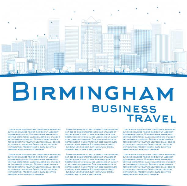 Outline Birmingham (Alabama) Skyline vector art illustration