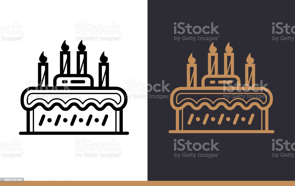 Outline CAKE icon, bakery. Vector line icons suitable for info graphics, print media and interfaces royalty-free outline cake icon bakery vector line icons suitable for info graphics print media and interfaces stock vector art & more images of bakery