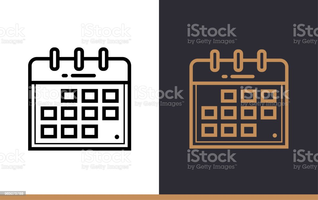Outline calendar icon for startup business. Vector line icons suitable for info graphics, print media and interfaces outline calendar icon for startup business vector line icons suitable for info graphics print media and interfaces - stockowe grafiki wektorowe i więcej obrazów bez ludzi royalty-free