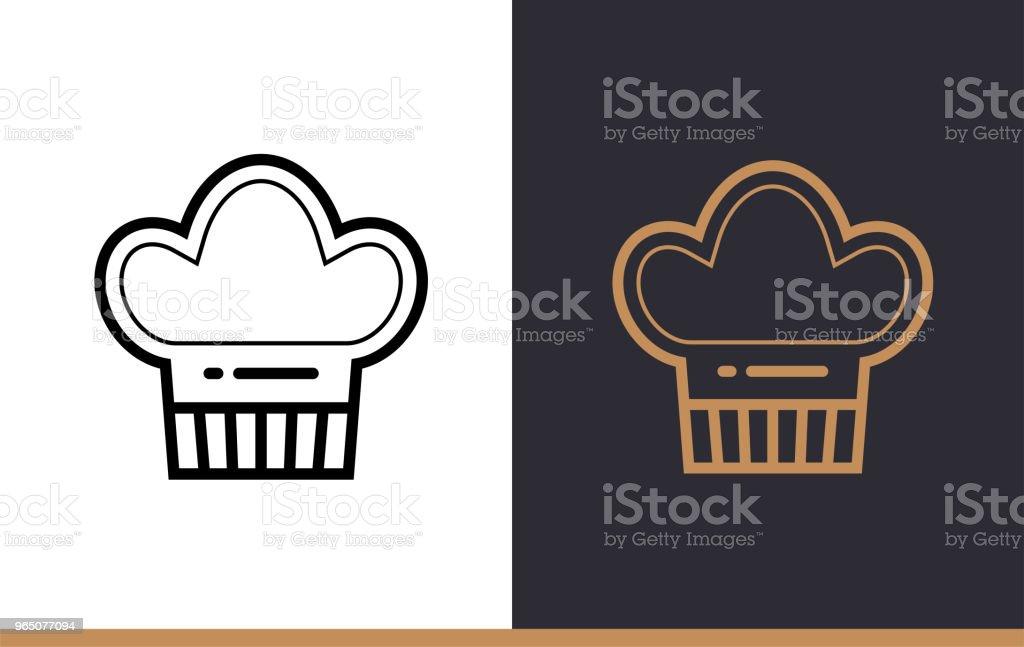 Outline CHEF HAT icon, bakery. Vector line icons suitable for info graphics, print media and interfaces outline chef hat icon bakery vector line icons suitable for info graphics print media and interfaces - stockowe grafiki wektorowe i więcej obrazów bez ludzi royalty-free