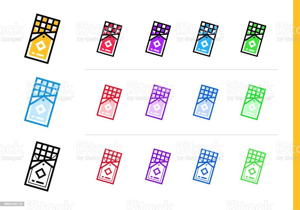 Outline CHOCOLATE BAR icon in different colors. Vector elements suitable for website, mobile application and presentation outline chocolate bar icon in different colors vector elements suitable for website mobile application and presentation - stockowe grafiki wektorowe i więcej obrazów bez ludzi royalty-free