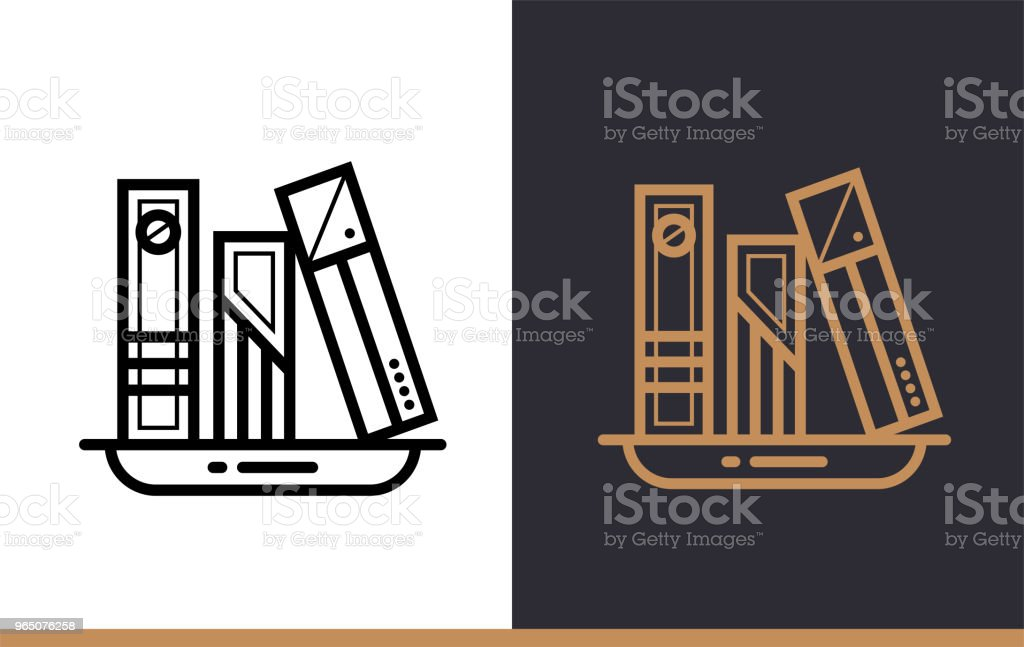 Outline CLASSBOOKS icon for education. Line icons suitable for info graphics, print media and interfaces royalty-free outline classbooks icon for education line icons suitable for info graphics print media and interfaces stock vector art & more images of design