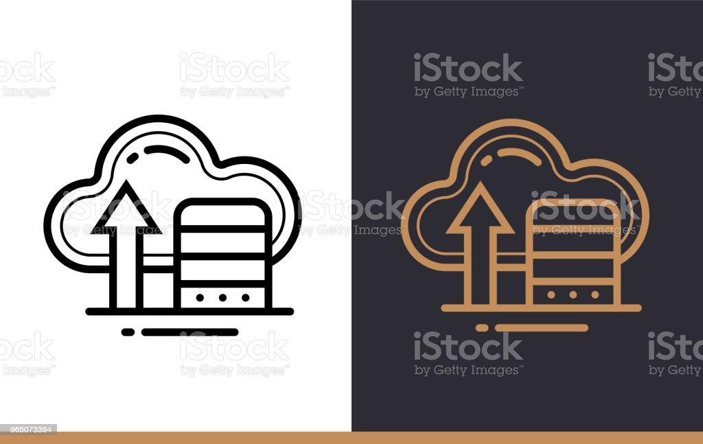 Outline cloud storage icon for startup business. Line icons suitable for info graphics, print media and interfaces royalty-free outline cloud storage icon for startup business line icons suitable for info graphics print media and interfaces stock vector art & more images of business