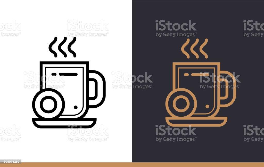 Outline coffee break icon for startup business. Vector line icons suitable for info graphics, print media and interfaces outline coffee break icon for startup business vector line icons suitable for info graphics print media and interfaces - stockowe grafiki wektorowe i więcej obrazów bez ludzi royalty-free