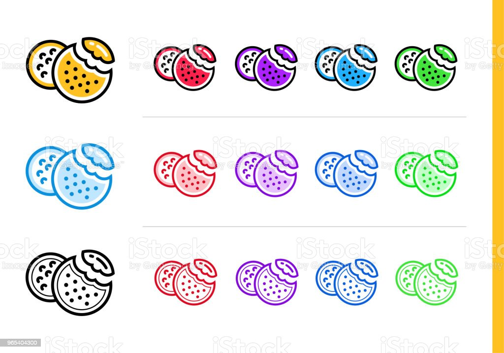 Outline COOKIES icon in different colors. Vector elements suitable for website, mobile application and presentation outline cookies icon in different colors vector elements suitable for website mobile application and presentation - stockowe grafiki wektorowe i więcej obrazów bez ludzi royalty-free