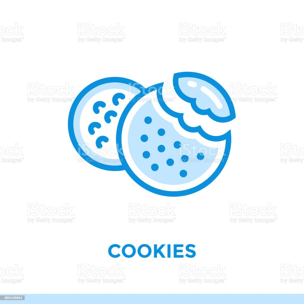 Outline COOKIES icon. Vector pictogram suitable for print, website and presentation outline cookies icon vector pictogram suitable for print website and presentation - stockowe grafiki wektorowe i więcej obrazów bez ludzi royalty-free
